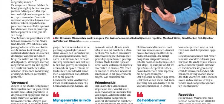 Deutscher Chor sucht niederländische Sänger
